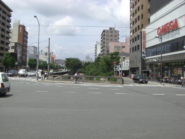 堀川丸太町(丸太町橋から北を望む)