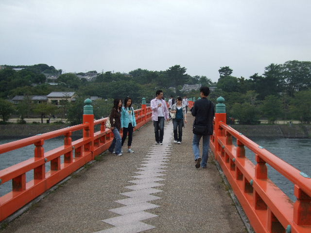 朝霧橋の上