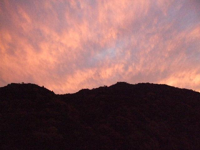 山裾_夕焼け