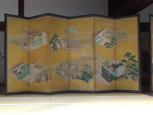 源氏の図(左隻)