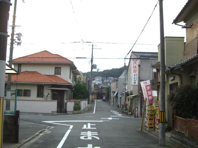 反対方向の街並み