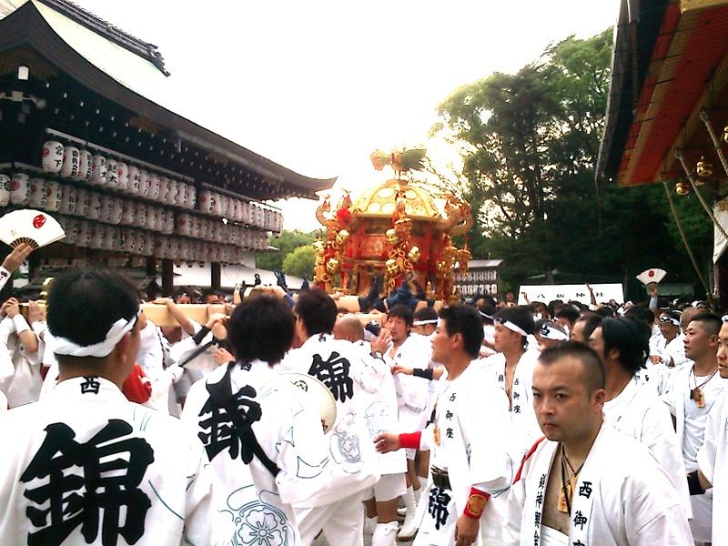 本殿前での儀式