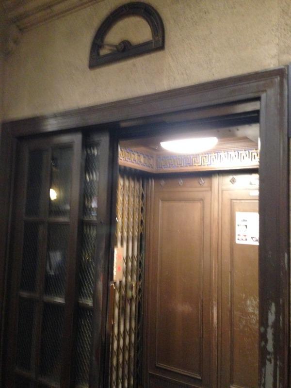 日本最古のエレベーター。よく手入れされています