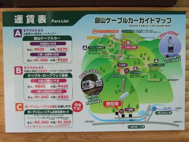 叡山ケーブルカーガイドMAP